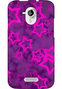 AMEZ designer printed 3d premium high quality back case cover for Micromax Canvas HD A116 (purple stars)
