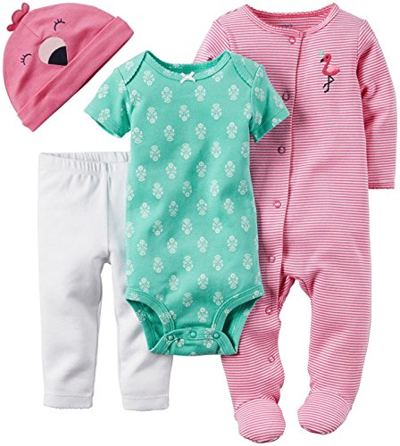 de-carter-baby-girls-4-piezas-canastilla-set-flamingo