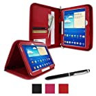 rooCASE Samsung GALAXY Tab 3 10.1 GT-P5210 Executive Portfolio Case Cover - Red (with Pen Stylus)