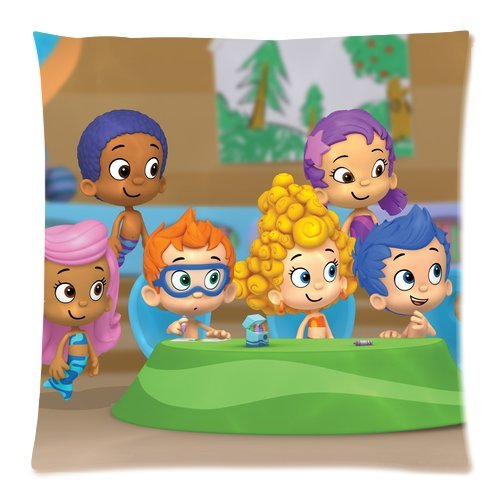 Stylish Design Standard Size 18X18 Two Side Print Hot Cartoon Bubble Guppies Cute Molly Gil Bubble Puppy Pillowcases Protector For Kids-2 front-848898