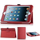Generic Magnetic Leather Folio Stand Case Smart Cover For iPad Mini Red