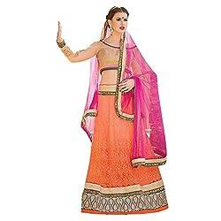 Aagaman Fashions Net Lehenga Cholis (YTSN67008_Orange)