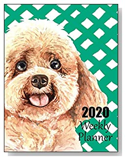 Poodle 2020 Dated Weekly Planner - A fun canine-themed planner to help any dog lover stay organized and keep track of activities on a daily, weekly, and monthly basis from January to December 2020.