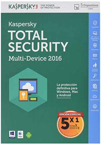 Kaspersky Lab - KASPERSKY TOTAL SECURITY 5 X 1