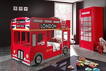 Smartbed - Lit Superposé Bus London Avec Led 90 X 200