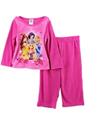 Disney Princess Baby Girls' 2 Piece Pink Pajama Pants Set