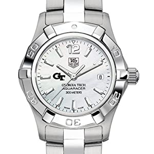 Georgia Tech TAG Heuer Watch - Ladies Steel Aquaracer Watch with Mother of Pearl by TAG Heuer