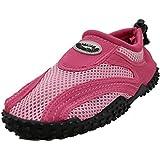 Women's Wave Water Shoes Pool Beach Aqua Socks, Yoga , Exercise,9 B(M) US,Fuchsia/Pink 1185L-X