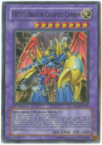 Buy Yu-Gi-Oh Gx Elemental Energy Foil Card Vwxyz – Dragon Catapult Cannon Super Rare Card EEN-EN031