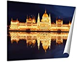 Ashley Giclee Budapest Hungarian Parliament At Night Hungary, 20x25 Print