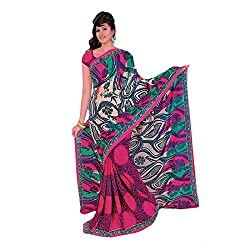 radhika georgette sarees with blouse