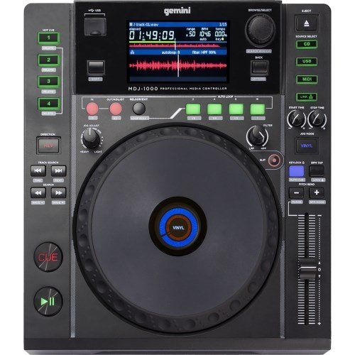 Gemini MDJ-1000 Professional Media Player 4.3-Inch Screen Link 8 (Wireless Usb Dj Controller compare prices)