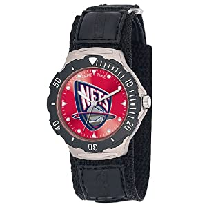 NBA Mens BDV-NJ Agent Series New Jersey Nets Velcro Watch by Game Time