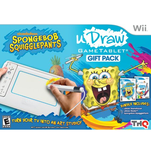 51TFhrEmqWL Cheap Price uDraw Game Tablet with SpongeBob Squigglepants and Studio Bundle