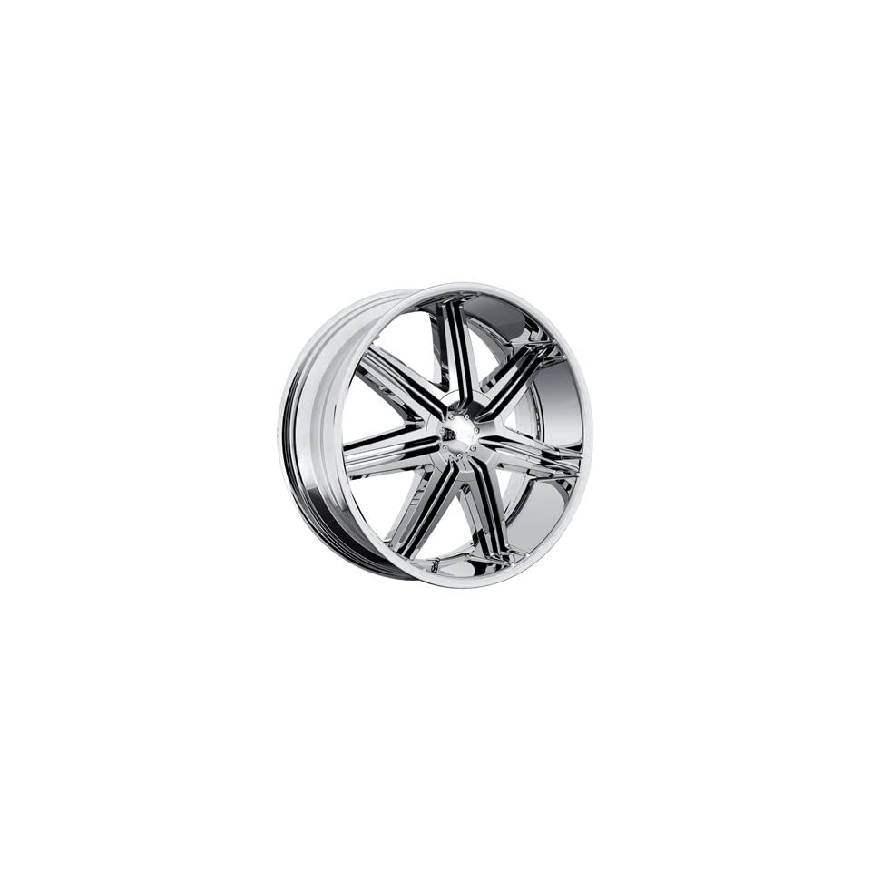 Boss 332 22 Chrome Wheel / Rim 6x5.5 with a 14mm Offset and a 108.20 Hub Bore. Partnumber 33260966