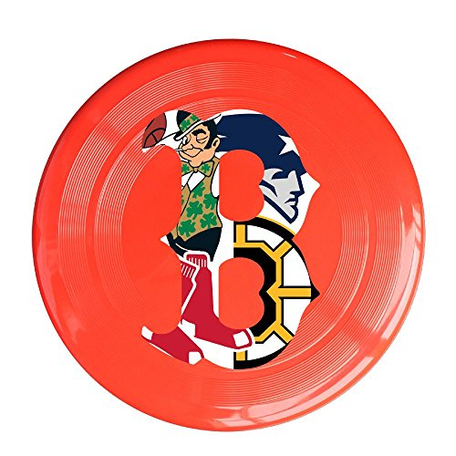 YQUE56 Unisex Boston Spoter Logo Mixed Outdoor Game, Sport, Flying Discs,Game Room, Light Up Flying, Sport Disc ,Flyer Frisbee,Ultra Star Red One Size
