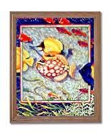 Exotic Tropical Ocean Fish # 2 Home Decor Wall Picture Oak Framed Art Print