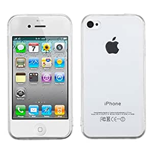 MyBat Glassy Transparent Gummy Cover for Apple iPhone 4S/4 - Retail Packaging - Clear