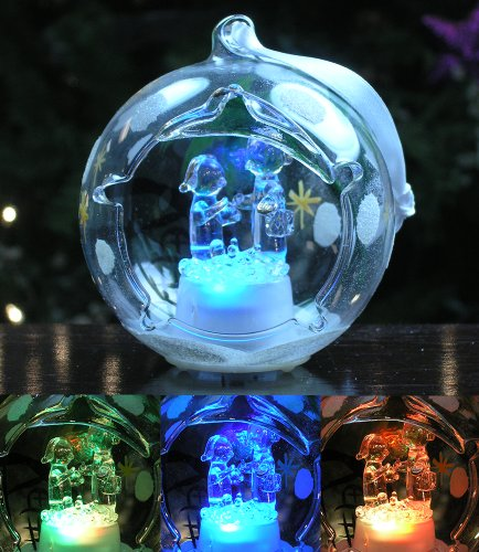 LED Clear Glass Ornament and Decoration