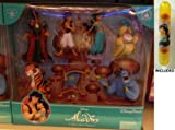 Disney Parks Aladdin Non-Articulating PVC Figure Set - Disney Parks Exclusive & Limited Availability + Double Sided Jasmine Stamp Included