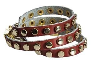 Esprit - EDBR21319B000 - Bracelet Femme - Cuir - Rouge - 18 cm