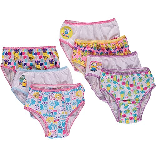 Despicable Me Little Girls' Minions 7 Pack Underwear Panties (8)