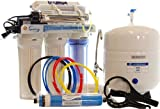 iSpring RCC7AK-UV 7-Stage 75 Gpd UV Ultra Violet Alkaline Mineral Reverse Osmosis RO Water System with Luxury Faucet
