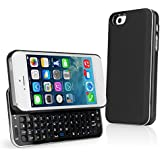 BoxWave Keyboard Buddy iPhone 5s / 5 Case - Backlit Edition - Bluetooth Keyboard Case with Integrated Apple Commands and Backlit Keys for Apple iPhone 5s / 5 (Jet Black)