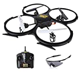 Holy Stone U818A HD Plus RC Drone with Camera 720P One Key Return and Headless Mode Function 2.4GHz 4 Chanel 6-Axis Gyro Quadcopter Includes Bonus Battery and Goggles