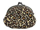 豹柄 がま口 京都職人手作り 財布 小銭入れ 日本製 イエロー