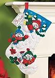 Bucilla Felt Applique Christmas Stocking Kit: Fun in the Snow