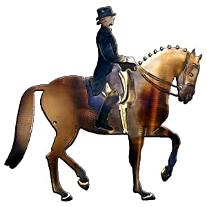 Dressage Horse And Rider Design Metal Wall Art from Richard Pell Creative Metalwork