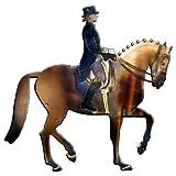 Wanddekoration, Motiv: Dressurreiter auf Pferd, Metall