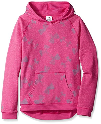 Under Armour Girls Youth Terry Fleece Hoodie Pullover Kaleidelogo Pink Size YMD M