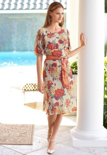Floral Print Puff Sleeve Dress