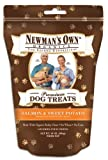 Newmans Own Organics Premium Dog Treats, Salmon & Sweet Potato, Breakable Medium, 10-Ounce Bags (Pack of 6)