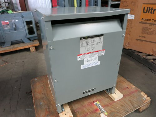 Square D 25 Kva 600 Delta To 120 / 240 1 Phase 25S5H Dry Type Transformer 25Kva