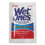 Wet Ones 4723 5 x 7.5 Antibacterial Moist Towelettes, White, 1-Ply