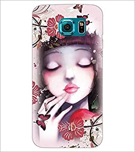 PrintDhaba Cute Girl D-4043 Back Case Cover for SAMSUNG GALAXY S6 EDGE (Multi-Coloured)