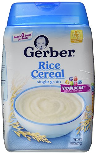 Gerber Cereal Rice, 8 oz - 1