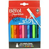 Berol Fabric Pens - Pack of 12