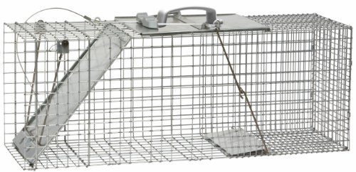 Havahart 1085 32-by-10-by-12-Inch Easy Set/Release One-Door Cage Trap for Raccoons, Stray Cats and Woodchucks