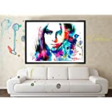 Original Shakira Water Color Poster Art, Home Decor - Lotus Wealth Art, Improve Wealth In Your Home - No Frame...