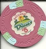 $5 dunes oversized baccarat vintage las vegas casino chip