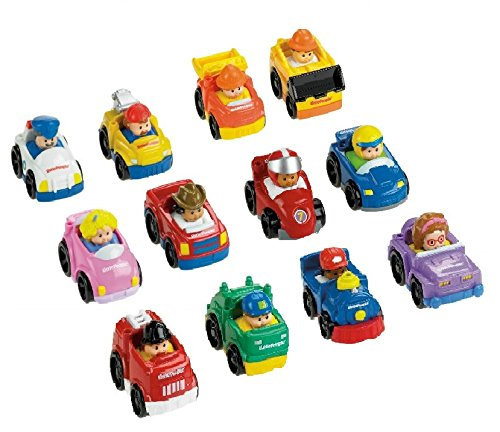 Fisher-Price Little People Wheelies Gift Set Bundle (12 Items)