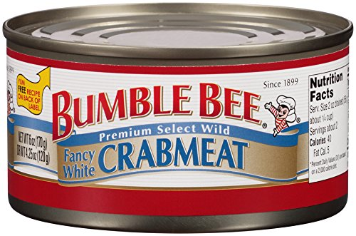 Bumble Bee Crab Meat, Fancy White, 6 Ounce (Can Crab Meat compare prices)