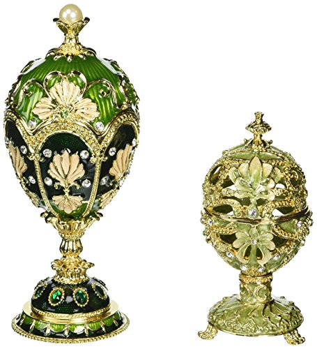 Design Toscano The Petroika Collection Faberge Style Enameled EggsSet Includes: Elena and La...