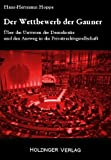Der Wettbewerb der Gauner (392639658X) by Hans-Hermann Hoppe