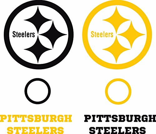 Steelers Cornhole Game Board Decal Set - 6 Cornhole Decals Free Circles (Steeler Corn Hole Bags compare prices)