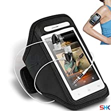 buy Gionee Pioneer P2 Black + Earphone Adjustable Armband Sport Gym Bike Cycle Running Jogging Sports Case Cover Holder Pouch (Bb) With Premium Quality In Ear Buds Stereo Hands Free Headphones Headset With Built In Microphone Mic And On-Off By Shukan®